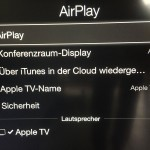 AppleTV - AirPlay Einstellungen