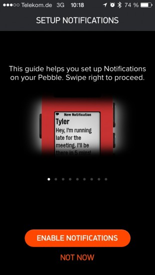 iOS Pebble App Notifications